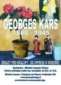 Výstava G Kars, 1880-1945, obrazy pro Kralupy, od imprese k moderně