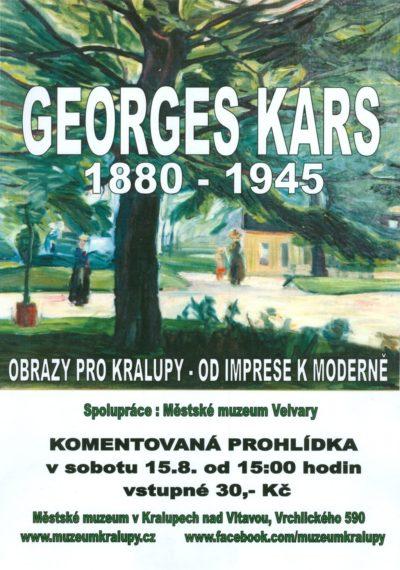 Komentovaná prohlídka výstavy G.Karse, sobota 15.8. od 15.00h
